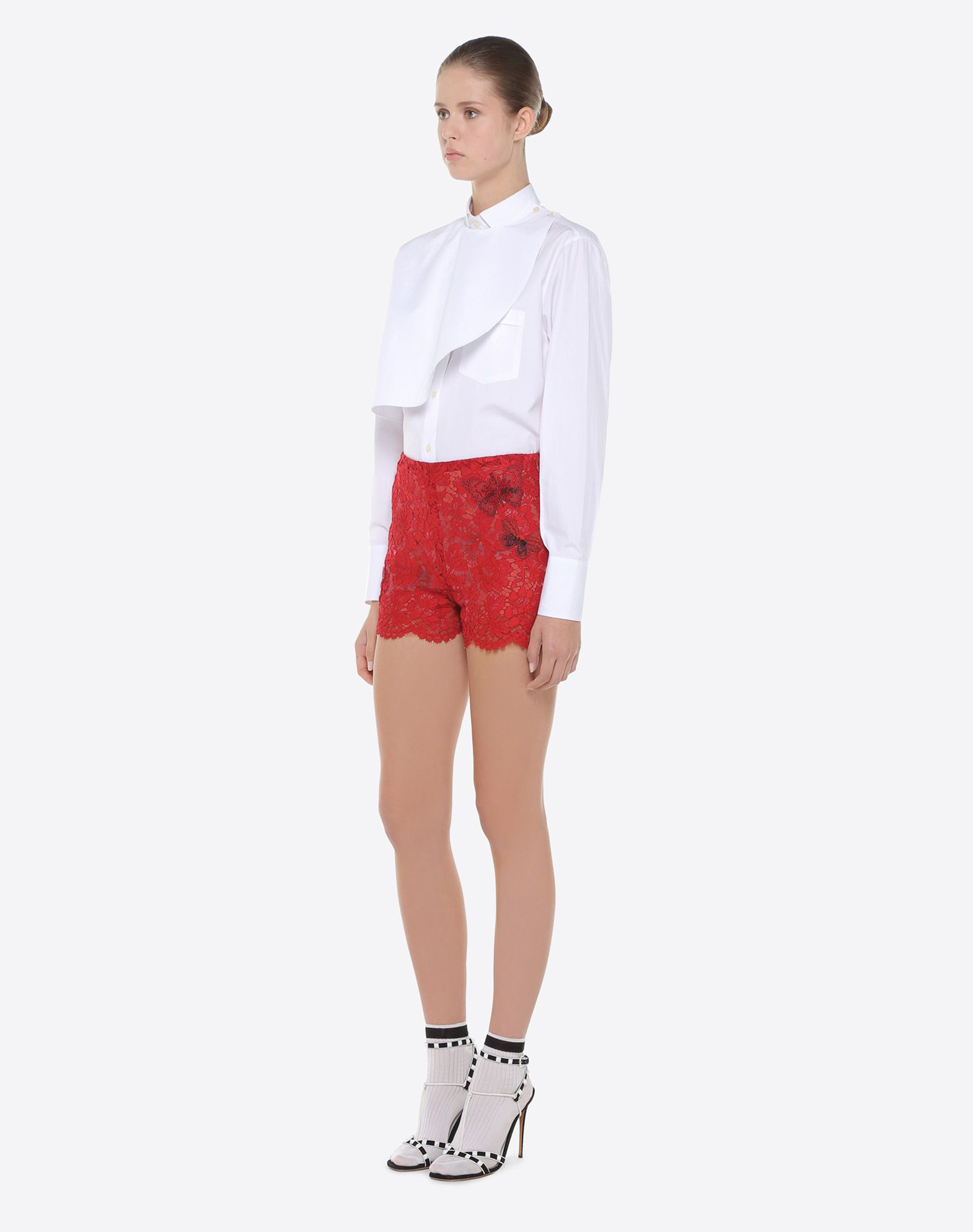 VALENTINO Shorts with embroidered butterflies Shorts D d