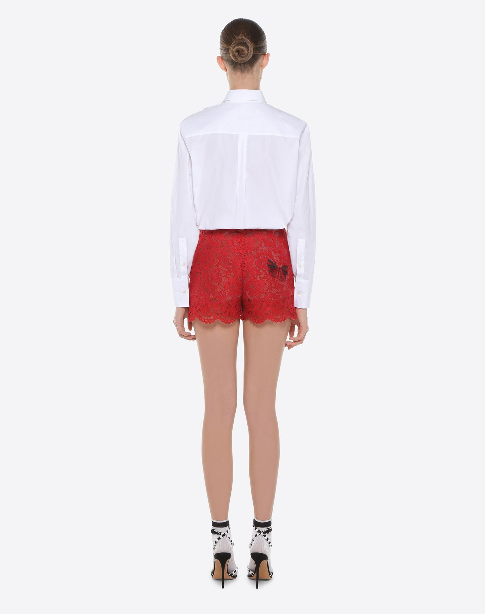 VALENTINO Shorts with embroidered butterflies Shorts D e