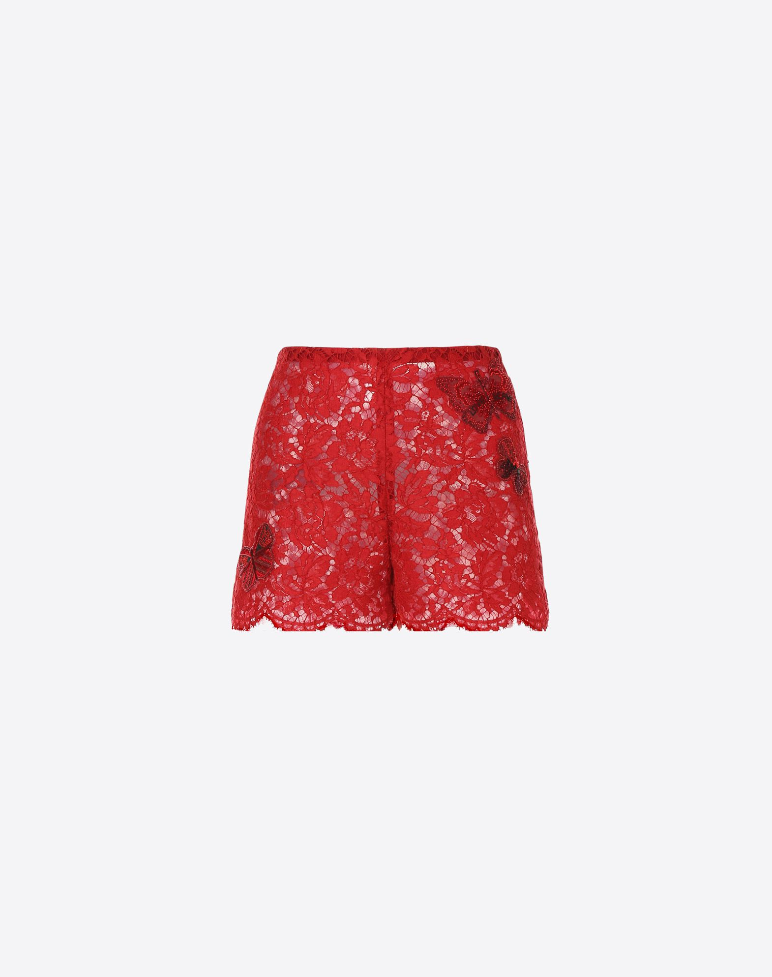 VALENTINO Shorts with embroidered butterflies Shorts D f
