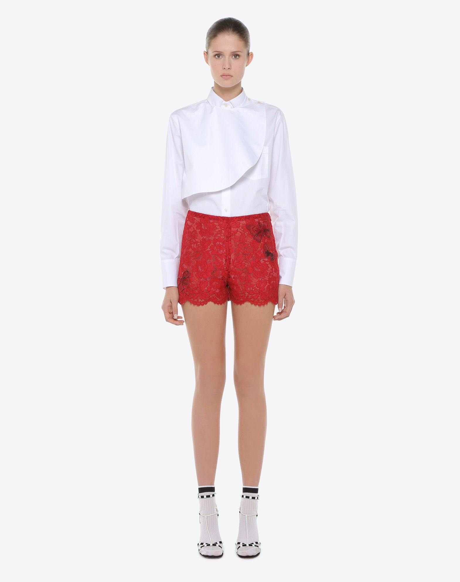 VALENTINO Shorts with embroidered butterflies Shorts D r