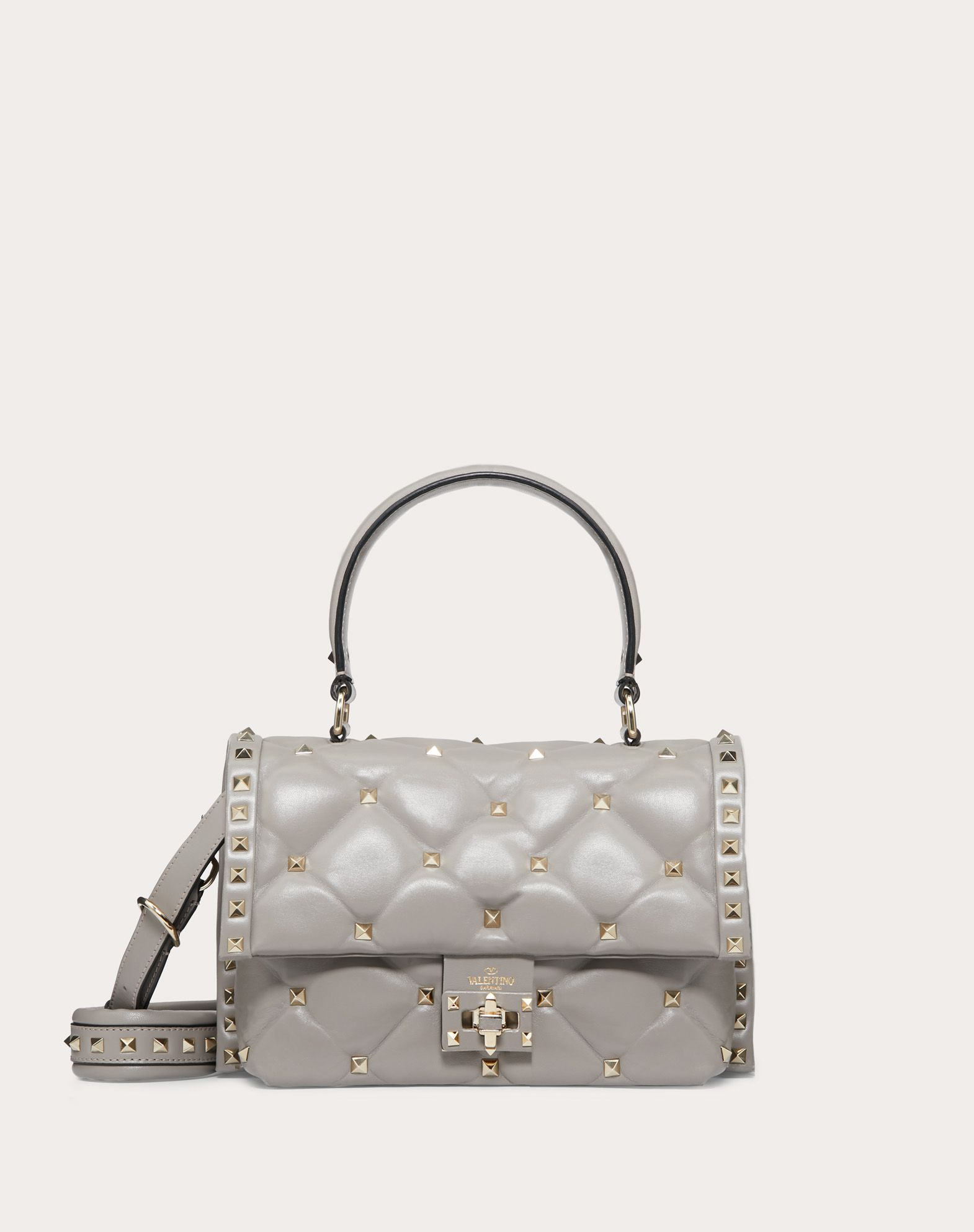VALENTINO Logo Studs Framed closure External pocket Removable shoulder strap Internal pockets Solid colour  45393939wk