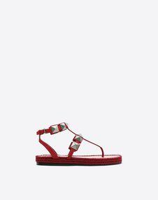 VALENTINO GARAVANI FLAT SANDALS D Thong Sandal with Macro Studs f