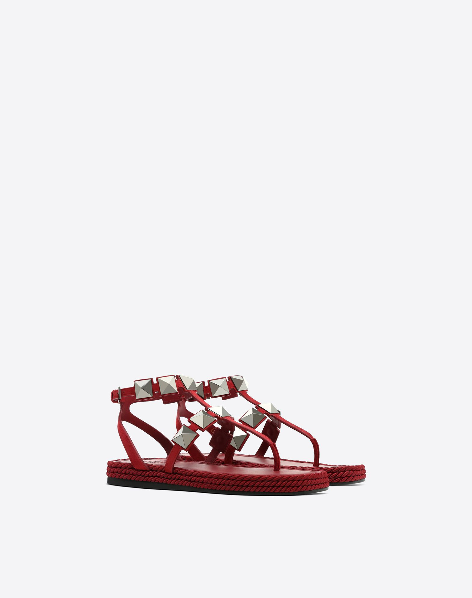 VALENTINO Contrasting applications Suede effect Buckle  45394049ic