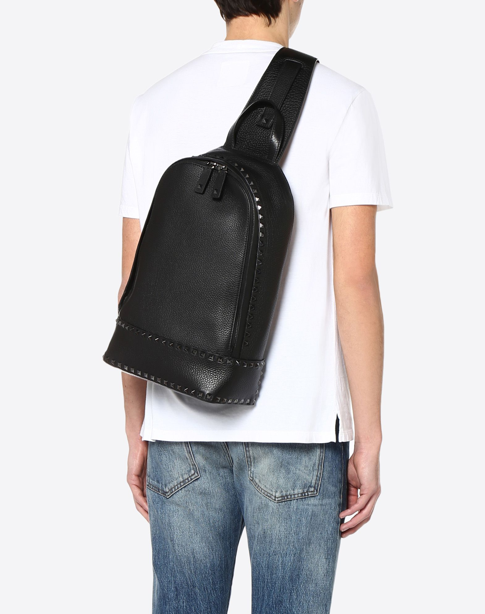 VALENTINO GARAVANI UOMO Rockstud Mono-Shoulder Backpack Backpack U a