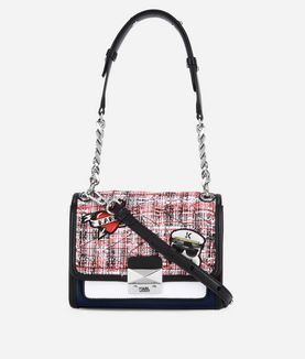 KARL LAGERFELD CAPTAIN KARL TWEED MINI BAG