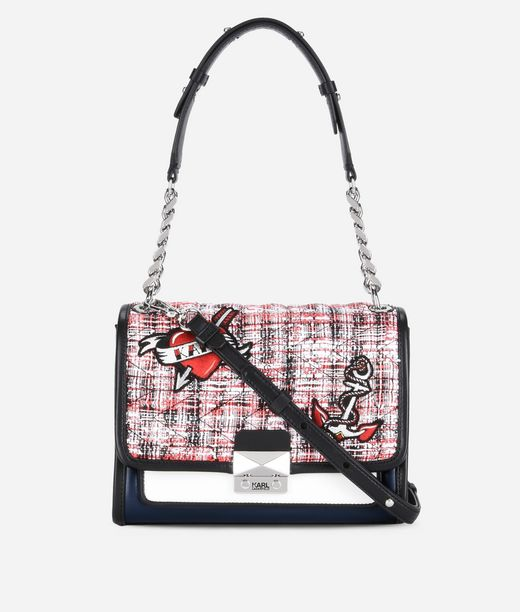 KARL LAGERFELD Captain Karl Tweed Handbag 12_f
