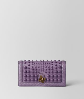 LILAC NAPPA SPHERES KNOT CLUTCH
