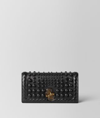 NERO NAPPA SPHERES KNOT CLUTCH