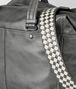 light grey intrecciato checker duffle Back Detail Portrait