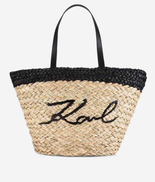 KARL LAGERFELD K/Ikonik Straw Shopper 12_f