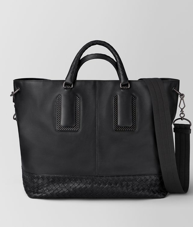 BOTTEGA VENETA NERO FRENCH CALF NICOLO TOTE Tote Bag [*** pickupInStoreShippingNotGuaranteed_info ***] fp