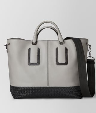 CEMENT FRENCH CALF NICOLO TOTE