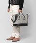 cement french calf nicolo tote Front Detail Portrait