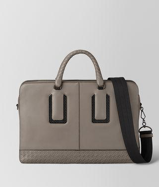 STEEL FRENCH CALF NICOLO BRIEFCASE
