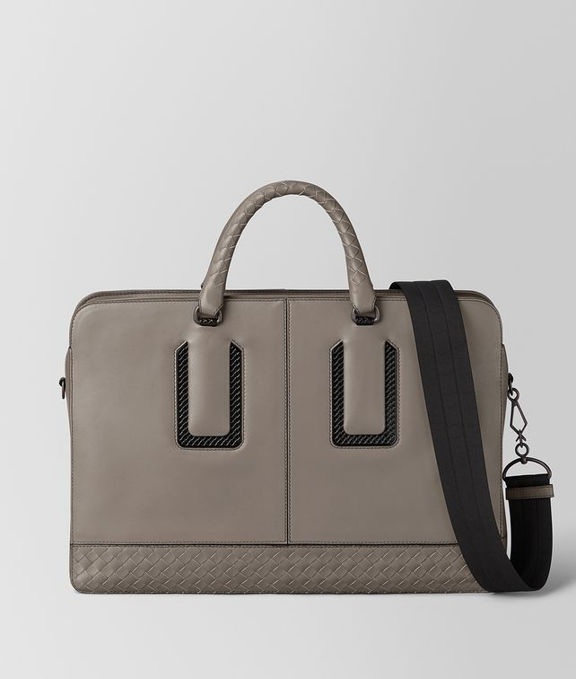 BOTTEGA VENETA STEEL FRENCH CALF NICOLO BRIEFCASE Business bag [*** pickupInStoreShippingNotGuaranteed_info ***] fp