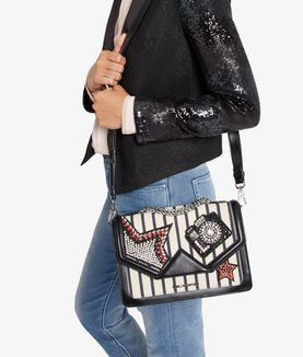 KARL LAGERFELD K/KLASSIK SPARKLE SHOULDER BAG