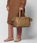 BOTTEGA VENETA CAMEL INTRECCIATO CHECKER DUFFLE Luggage Man ap