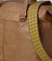 BOTTEGA VENETA CAMEL INTRECCIATO CHECKER DUFFLE Luggage Man ep