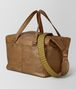 BOTTEGA VENETA CAMEL INTRECCIATO CHECKER DUFFLE Luggage Man rp