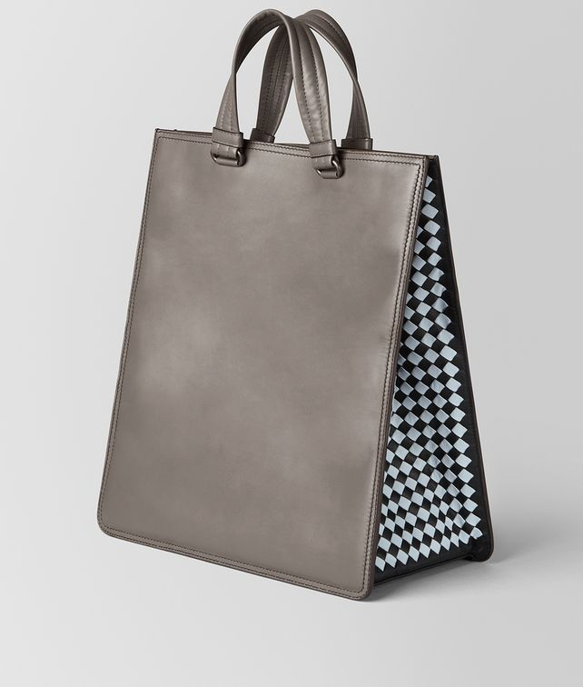 BOTTEGA VENETA STEEL INTRECCIATO CHECKER TOTE Tote Bag [*** pickupInStoreShippingNotGuaranteed_info ***] fp