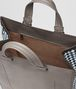 steel intrecciato checker tote Back Portrait