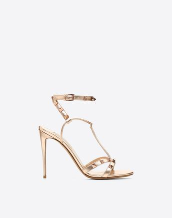 VALENTINO GARAVANI HIGH HEEL PUMPS D Striped Rockstud Pumps f