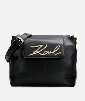 KARL LAGERFELD K/SIGNATURE SOFT SHOULDER BAG