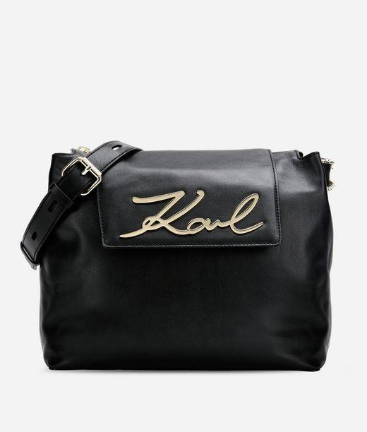 KARL LAGERFELD K/Signature Soft Shoulder Bag 12_f