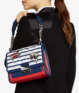 KARL LAGERFELD CAPTAIN KARL STRIP MINI HANDBAG