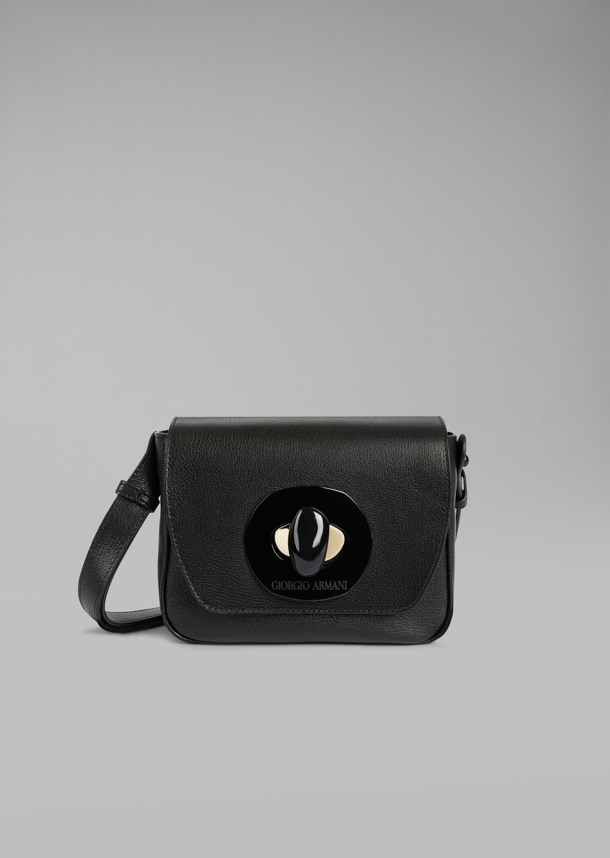 GIORGIO ARMANI Кожаная сумка на коротком ремешке Мини-сумка D f