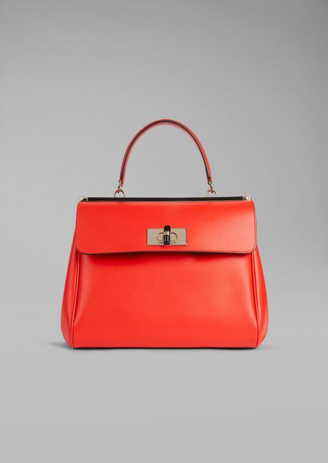 Handbag in smooth leather