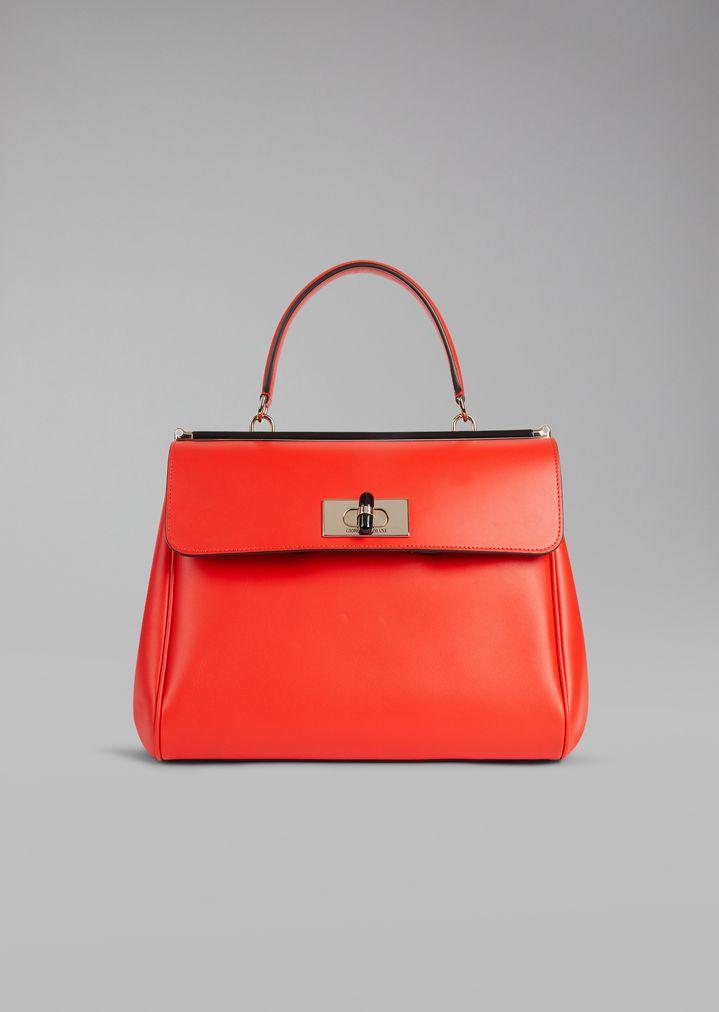 906b272fdb05 Handbag in smooth leather