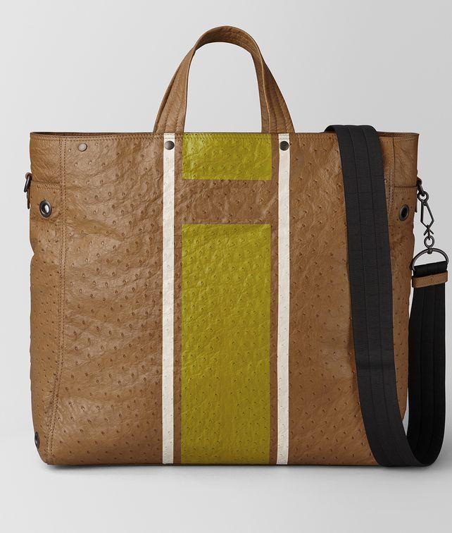 BOTTEGA VENETA CAMEL VIALINEA STRUZZO TOTE Tote Bag [*** pickupInStoreShippingNotGuaranteed_info ***] fp