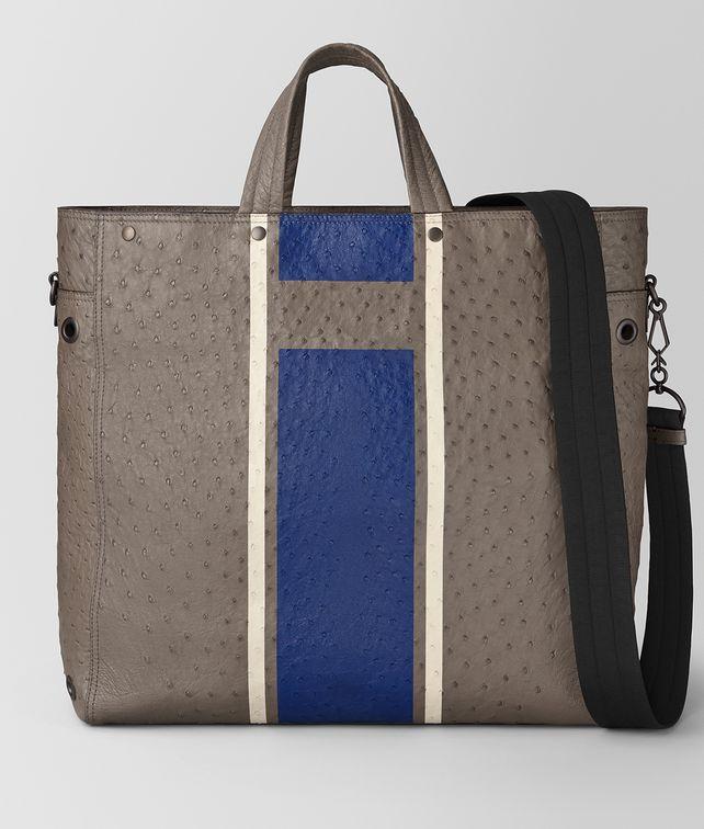 BOTTEGA VENETA STEEL VIALINEA STRUZZO TOTE Tote Bag [*** pickupInStoreShippingNotGuaranteed_info ***] fp