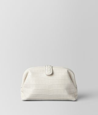POCHETTE THE LAUREN 1980 EN CROCODILE LATTE