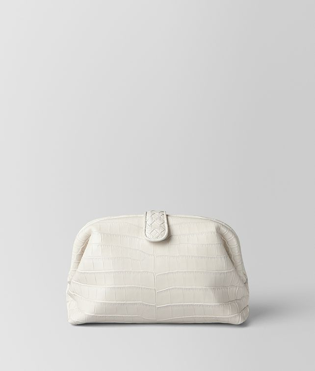 BOTTEGA VENETA LATTE SOFT CROCODILE THE LAUREN 1980 BAG Clutch [*** pickupInStoreShipping_info ***] fp
