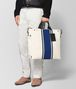 BOTTEGA VENETA LATTE COBALT VIALINEA CANVAS TOTE Tote Bag Man ap