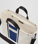 BOTTEGA VENETA LATTE COBALT VIALINEA CANVAS TOTE Tote Bag Man dp