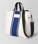 BOTTEGA VENETA LATTE COBALT VIALINEA CANVAS TOTE Tote Bag Man rp