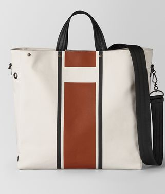 TOTE BAG AUS CANVAS VIALINEA LATTE