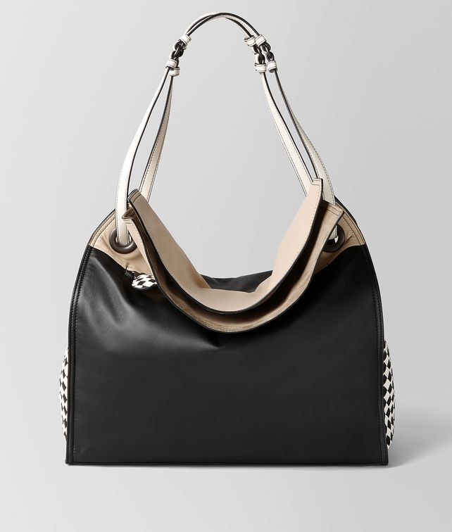 BOTTEGA VENETA NERO MINK INTRECCIATO PALIO TOTE Tote Bag Woman fp