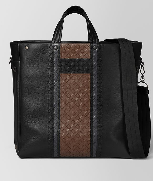 BOTTEGA VENETA NERO VIALINEA CALF TOTE Tote Bag [*** pickupInStoreShippingNotGuaranteed_info ***] fp