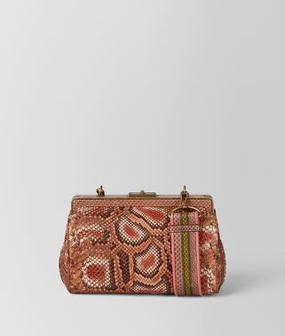 DAHLIA HAND-PAINTED PYTHON BURANO BAG