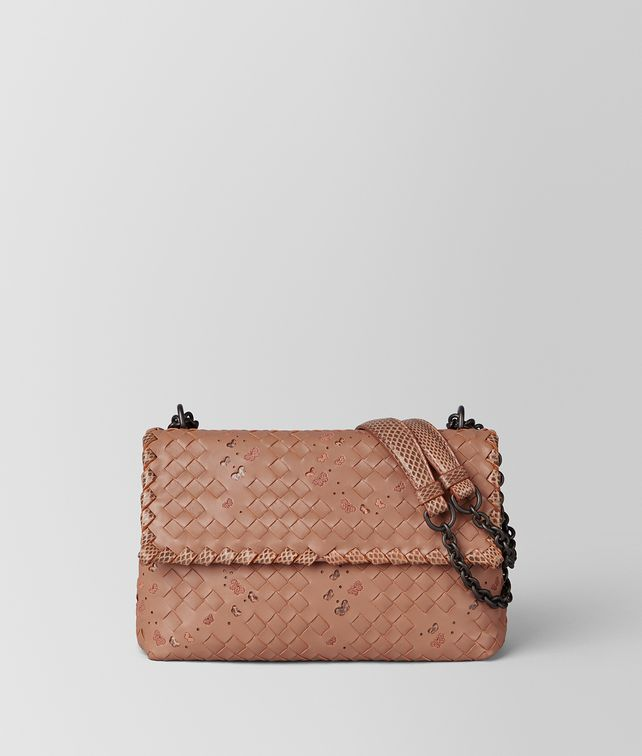 BOTTEGA VENETA DAHLIA INTRECCIATO NAPPA AYERS SMALL OLIMPIA BAG Shoulder Bag [*** pickupInStoreShipping_info ***] fp