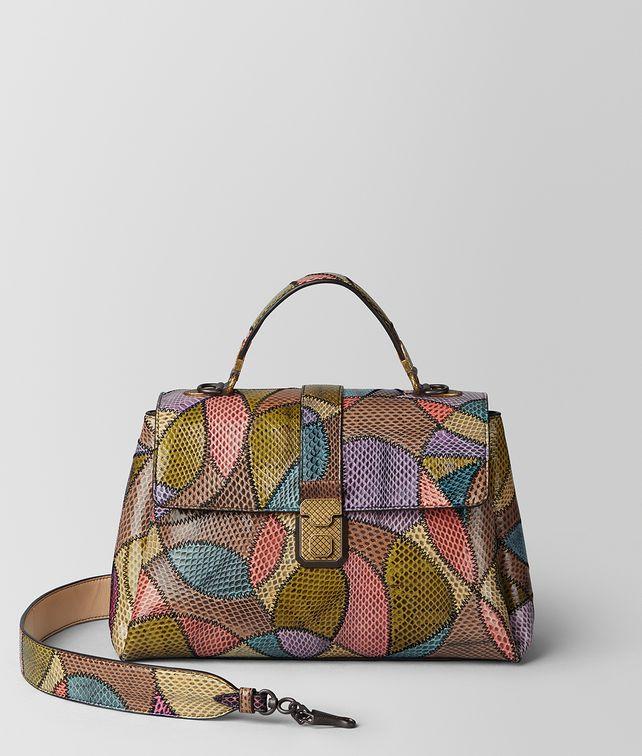 BOTTEGA VENETA MULTICOLOR AYERS PATCHWORK MEDIUM PIAZZA BAG Top Handle Bag Woman fp