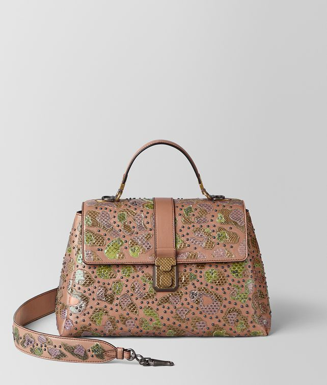 BOTTEGA VENETA DAHLIA CALF AYERS MEDIUM PIAZZA BAG Top Handle Bag Woman fp