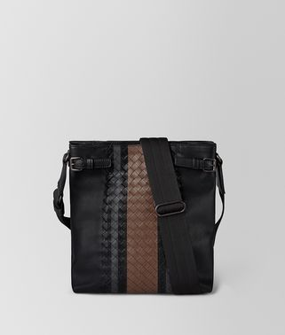 BORSA MESSENGER IN VITELLO VIALINEA NERO
