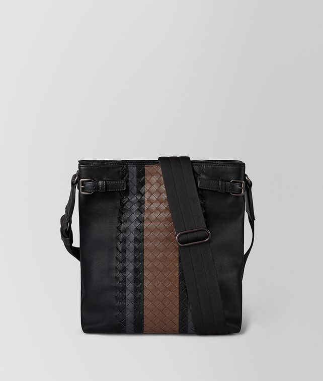 BOTTEGA VENETA NERO VIALINEA CALF MESSENGER Messenger Bag Man fp