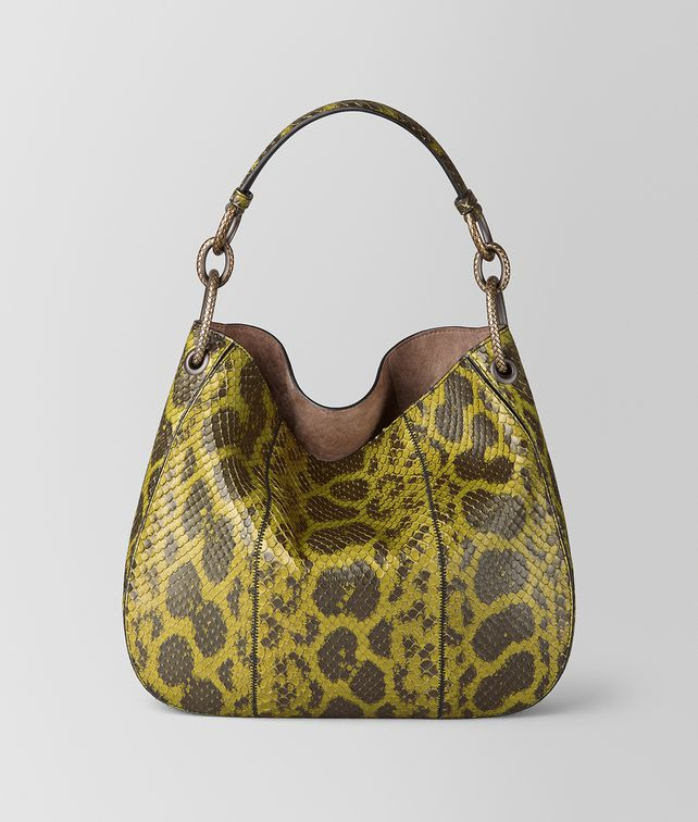 BOTTEGA VENETA CHAMOMILE ANACONDA LOOP BAG Hobo Bag Woman fp