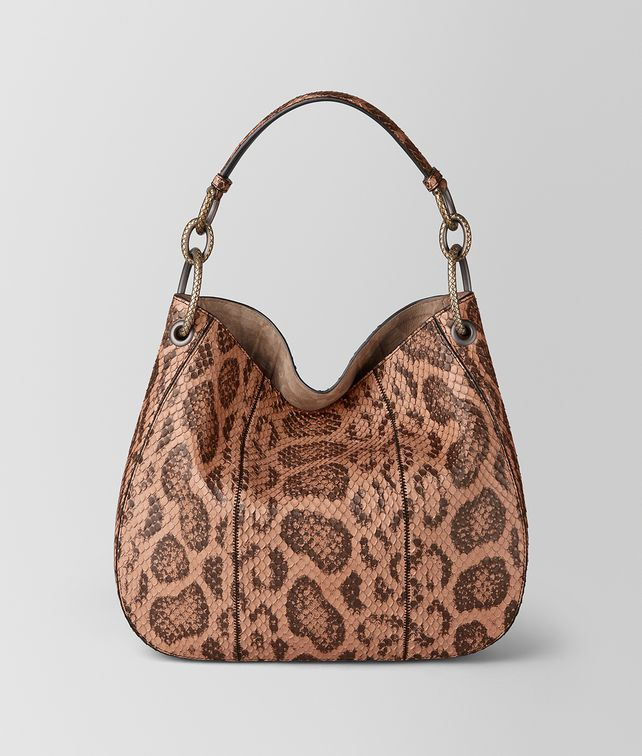 BOTTEGA VENETA BORSA LOOP IN ANACONDA DAHLIA Borsa hobo Donna fp